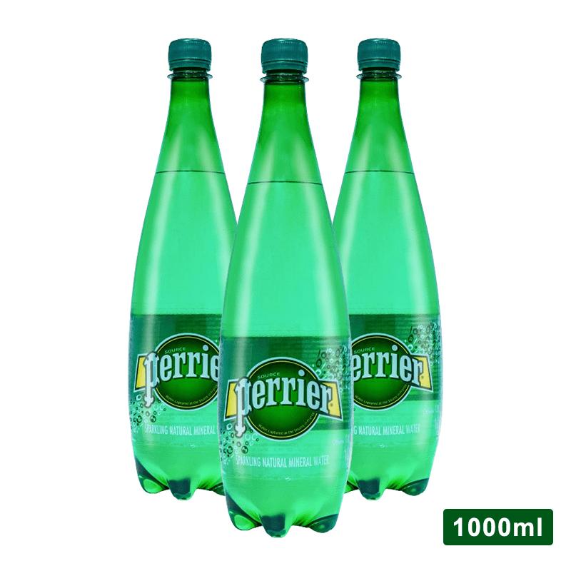 【法國Perrier】氣泡天然礦泉水(750mlx12入)x2箱(12 瓶)