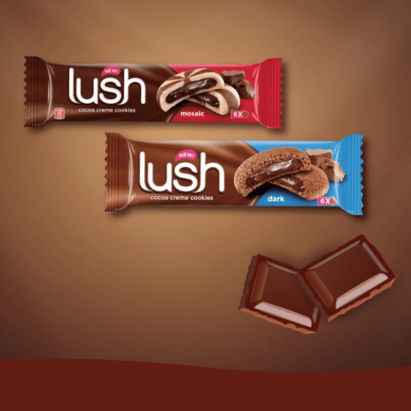 樂喜LUSH巧克力/黑巧克力夾心餅