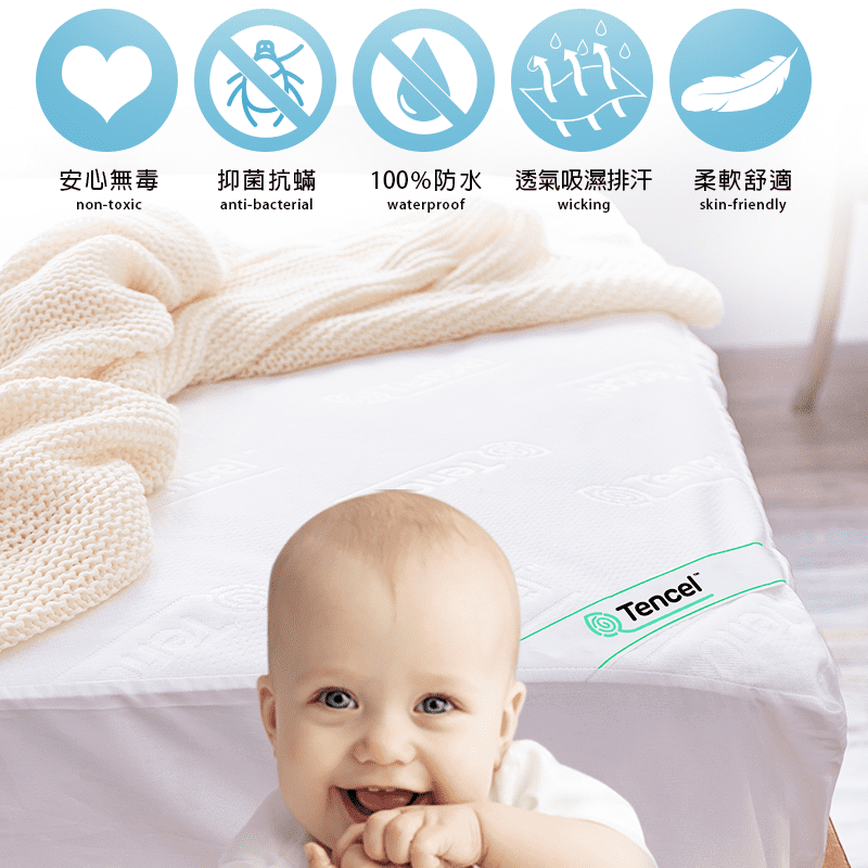 J-bedtime床寢時光3M透氣天絲護理級防水保潔墊 枕墊