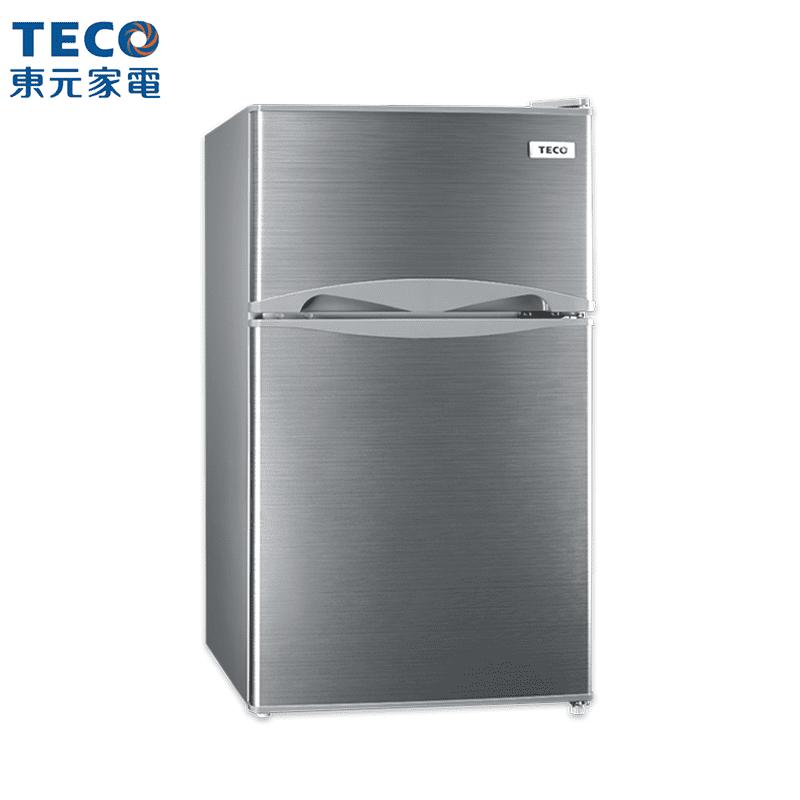 【TECO東元】100L一級節能雙門小冰箱福利品R1001S