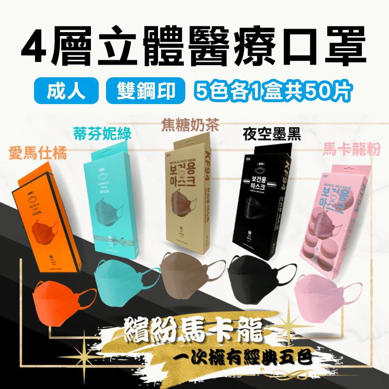 久富餘KF94韓版醫療口罩(10片/盒)立體口罩/成人口罩