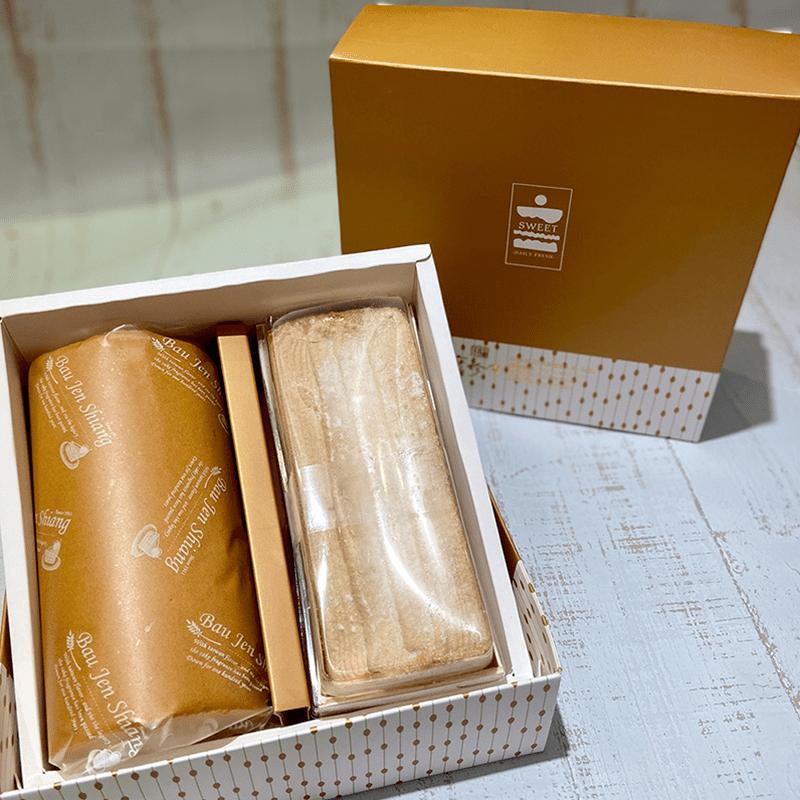 【寶珍香】雙捲禮盒-生乳捲+北海道十勝奶霜