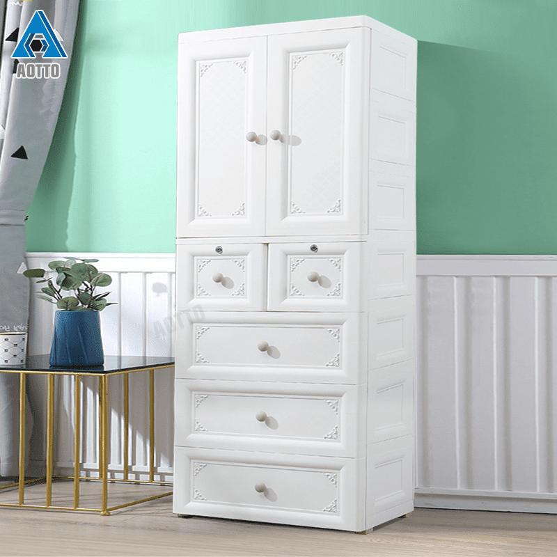 北歐風浪漫典雅雙開門衣櫃 衣櫥 收納櫃(兒童衣櫃 多層收納)