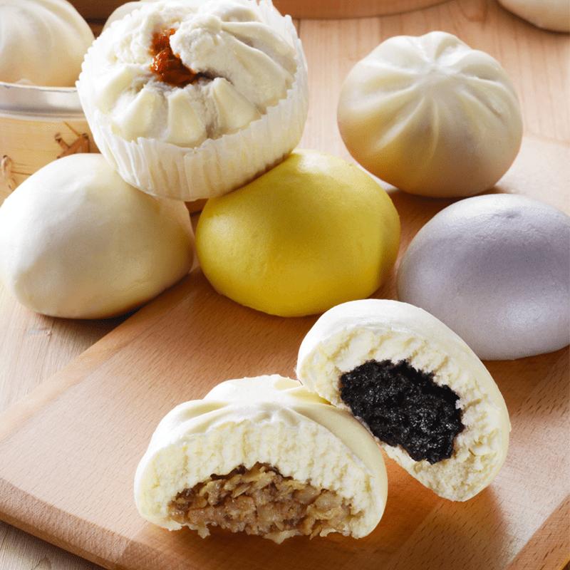 【CHIMEI 奇美】滿餡爆漿大包 鮮肉/高麗菜/芝麻/芋泥