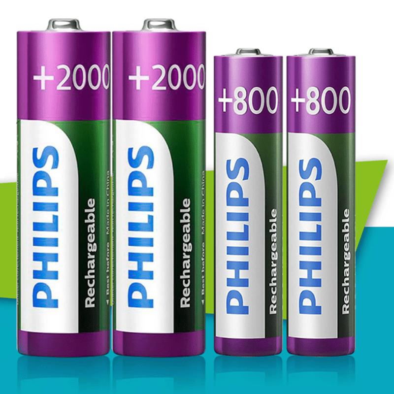 PHILIPS 飛利浦 AA 3號 2000mAh 低自放鎳氫充電電池