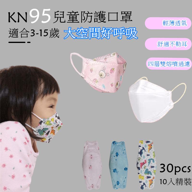 KN95兒童四層高防護口罩