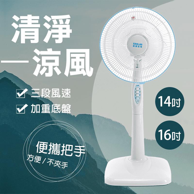 【國騰】14吋16吋大風量耐用型電風扇(SY-1410A/SY-1690A)