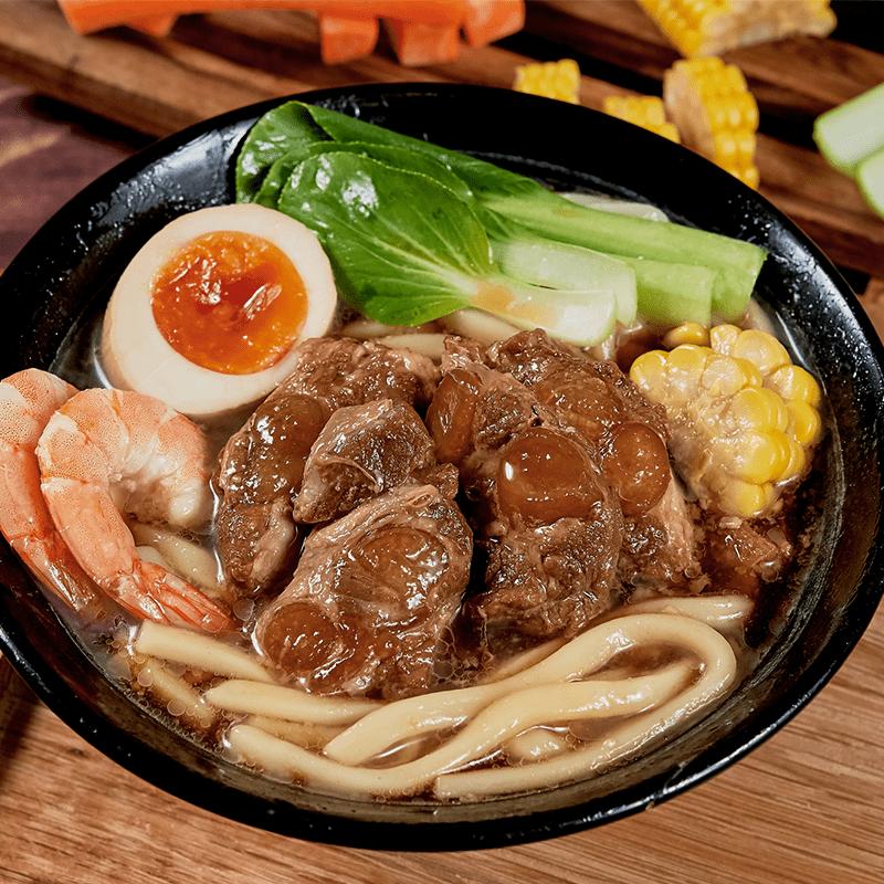 【新興四六一】700公克-紅燒/清燉軟骨肉烏龍麵(6 包)