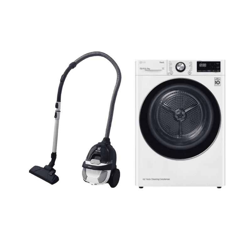 LG 樂金 WR-90VW 免曬衣乾衣機 9公斤 雙迴轉變頻壓縮機 可換開門方向