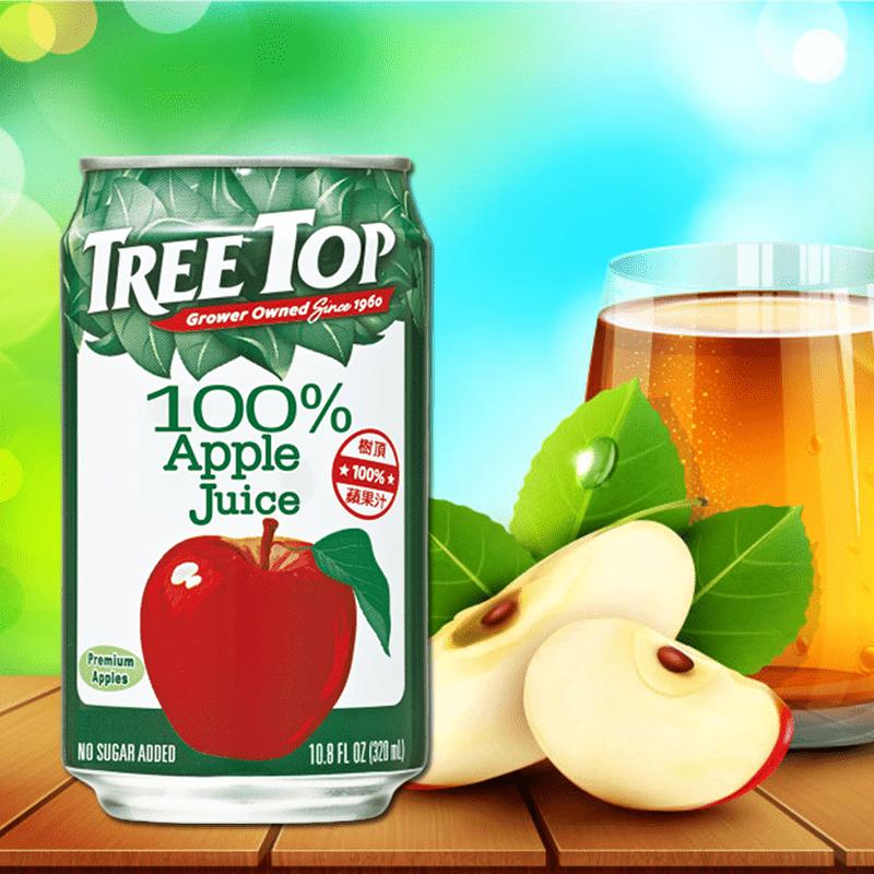 【Tree Top 樹頂】100%純蘋果汁(320mlx24入/箱)