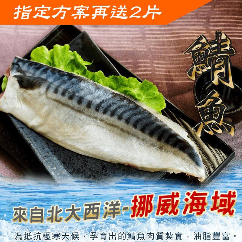 薄鹽挪威鯖魚一夜干10片(130G/片+-10%純重無紙板)