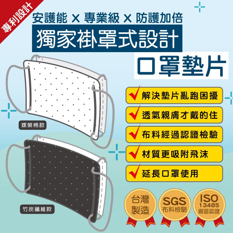 安護能 專利設計 掛罩式 口罩墊片