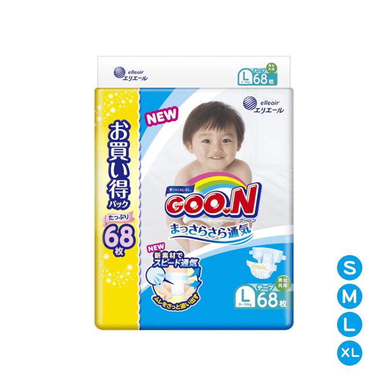 【日本大王GOO.N】境內版NHK黏貼型紙尿布XL 52片X3串(共156片)