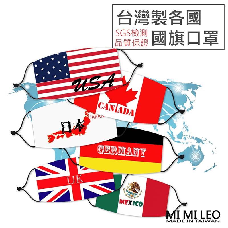 台灣製世界國旗口罩(10 入)