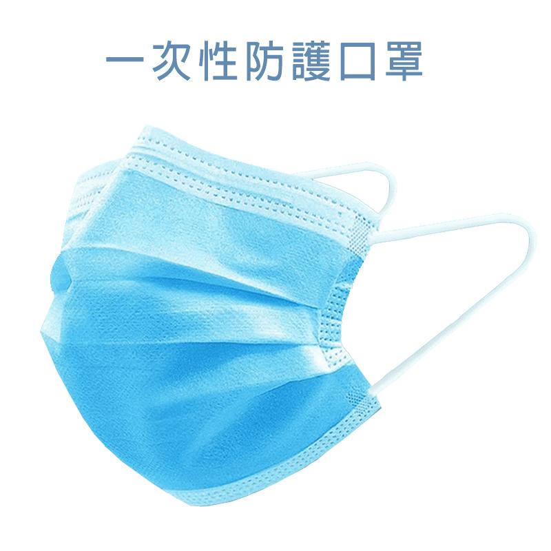 三層防護一次性防塵口罩(50入/包)