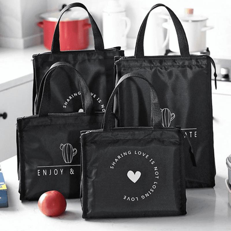 韓版炫黑時尚保溫保冰野餐收納包