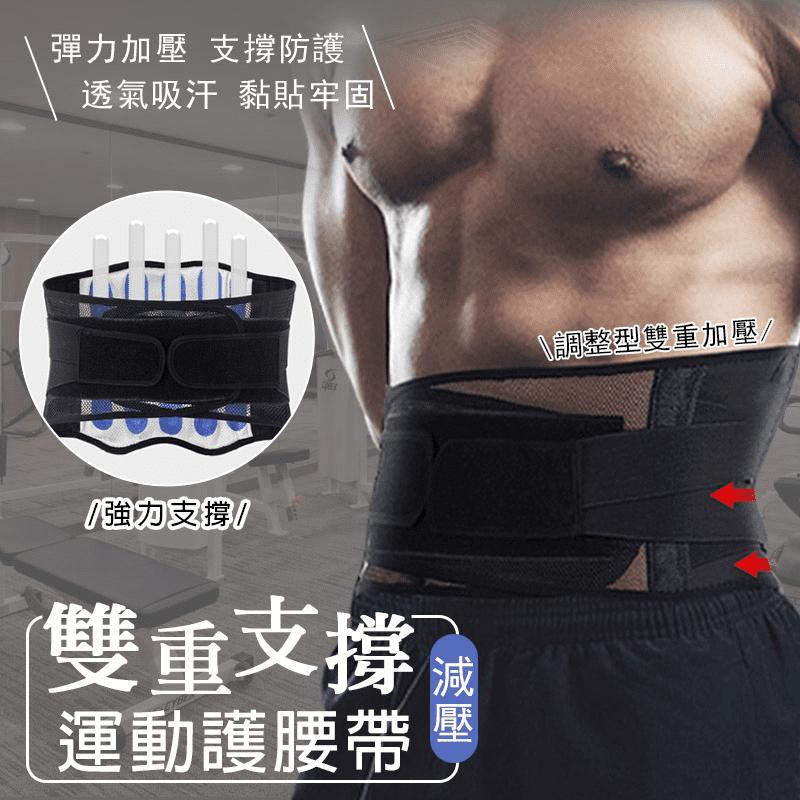 雙重支撐減壓運動護腰帶