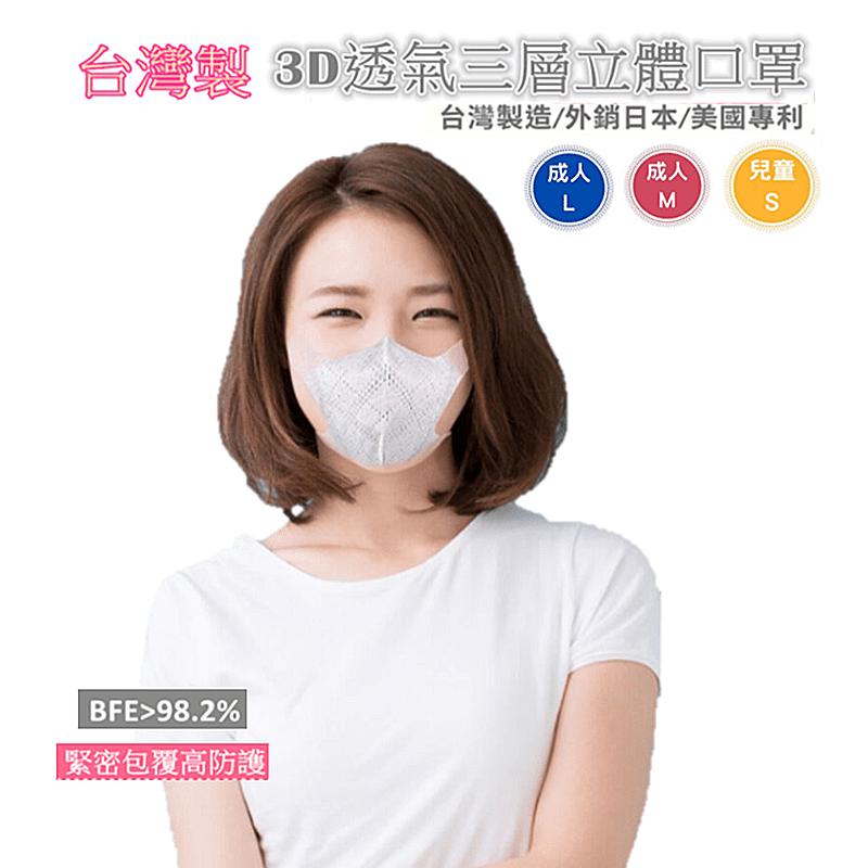 台灣製透氣3D立體口罩 立體口罩