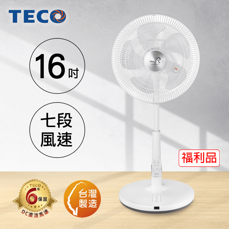 TECO東元 16吋DC微電腦遙控立扇XA1673BRD-1