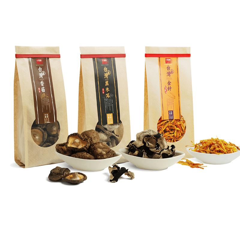 十翼饌台灣在地原產乾貨 (新社香菇、黑木耳、金針、竹薑片)