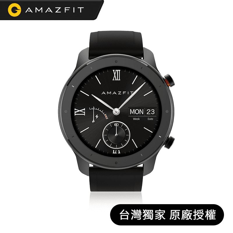 【Amazfit 】米動GTR 47mm Lite陶瓷運動心率智能手錶GTR-L