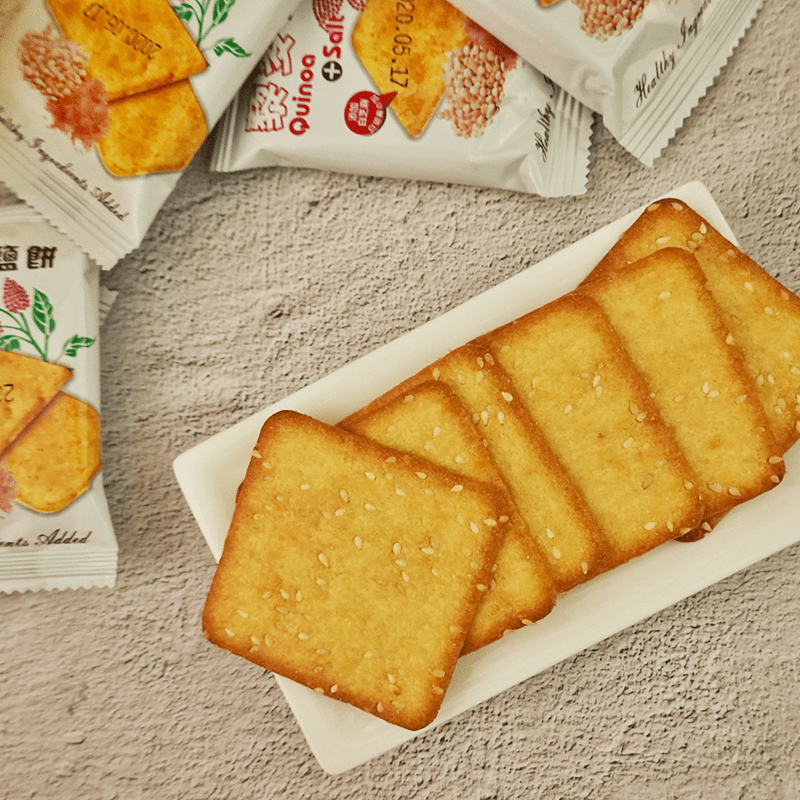 鹹香酥脆藜麥礦鹽餅乾