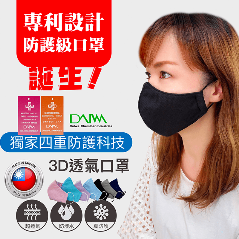 BEST貝思特防潑水抗菌口罩保護套【BEST】N55_3M