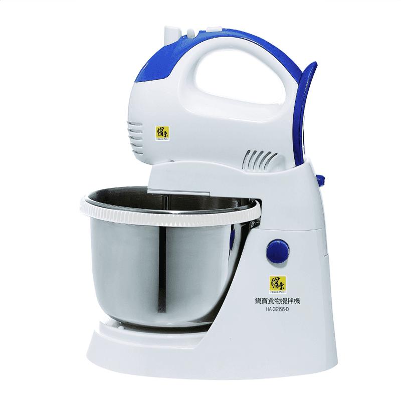 【鍋寶】麵糰大師 手持/立式兩用美食打麵器攪拌機-HA-3266-D不鏽鋼打麵