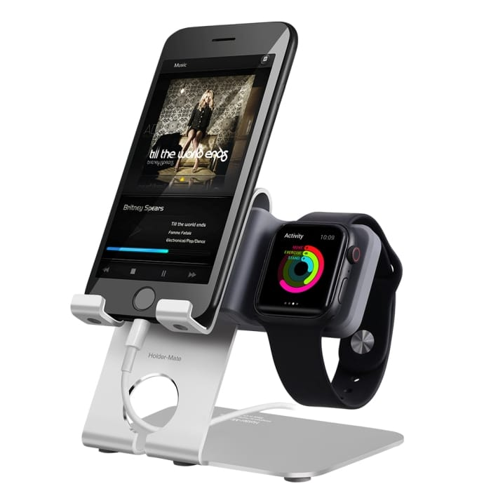 Holder-Mate iPhone, Apple Watch 2合1充電展示架