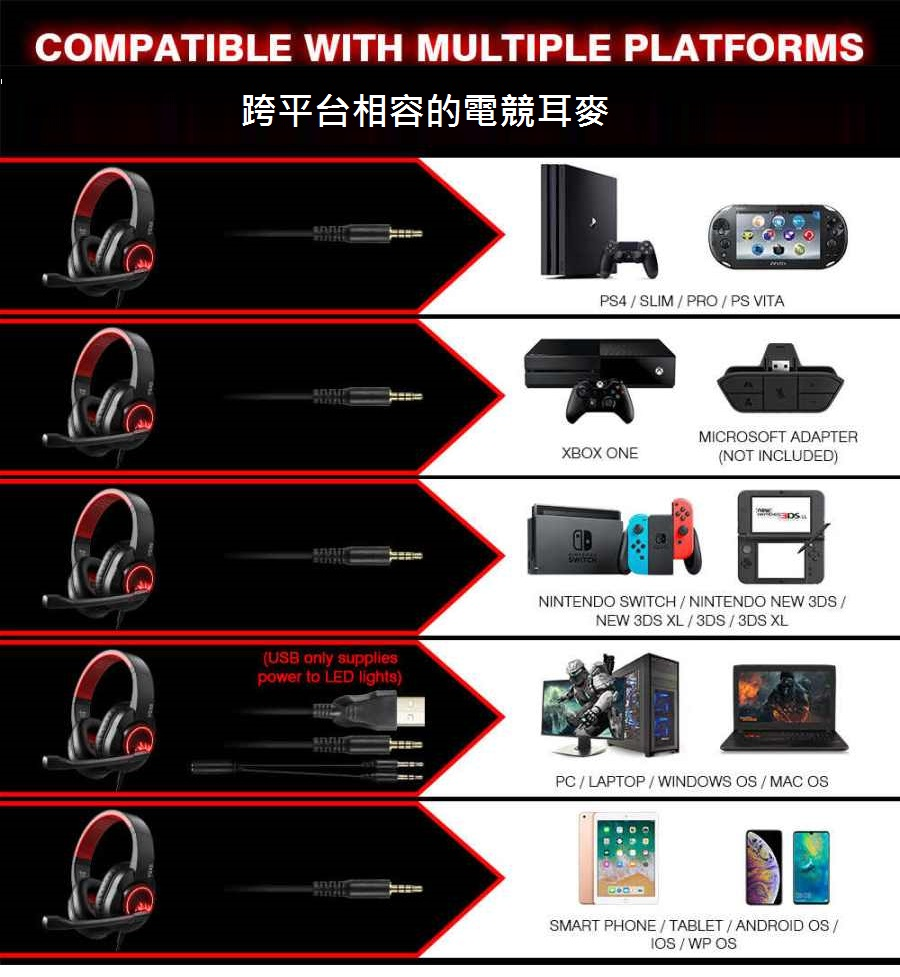 EKSA T8 PS4 Xbox one 任天堂Switc
