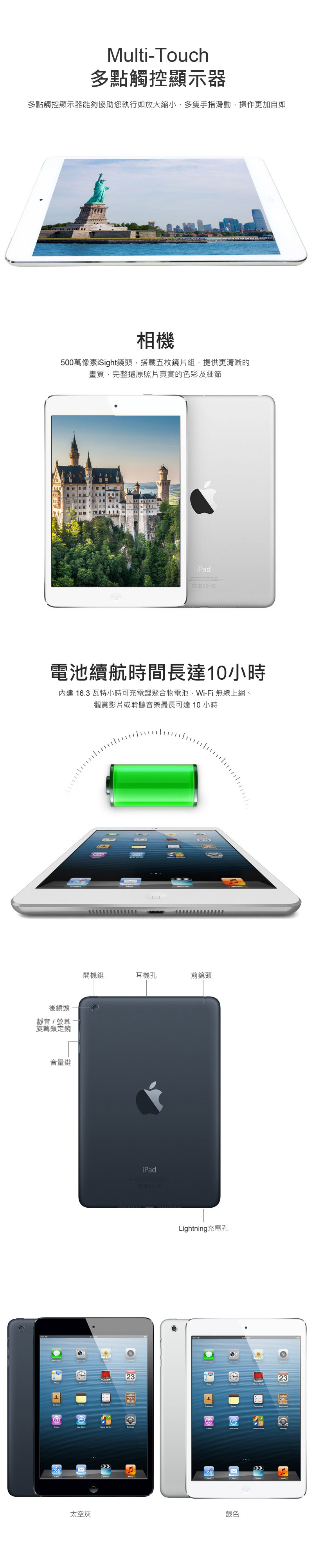 【Apple 福利品】iPad mini 2 Wi-Fi 16GB 平板電腦(A