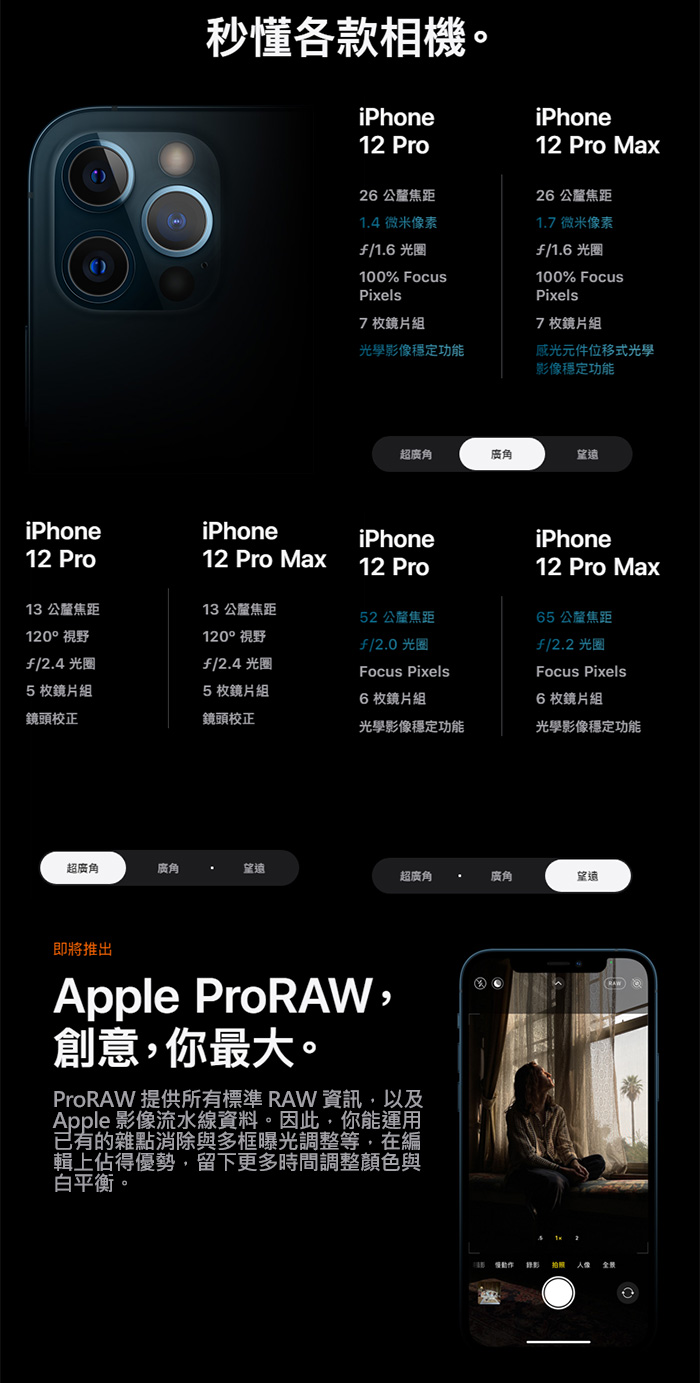 Apple iPhone 12 Pro 128GB 256GB 512GB 6.1吋